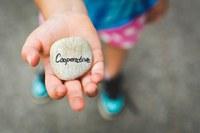 """Das Bild zeigt eine Hand mit einem Stein auf dem """"Kooperation"""" geschrieben steht."""