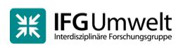 Hier befindet sich das Logo und der Schriftzug der IFG Umwelt
