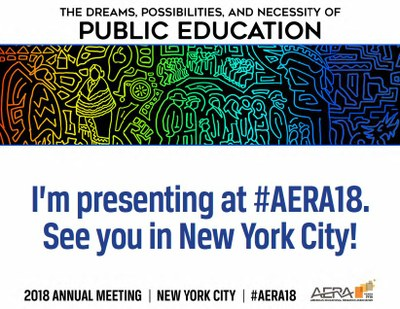 Svenja Matheis is presenting at the conference of the American Educational Research Association (AERA), New York City, NY, April 13-17 2018 #AERA18