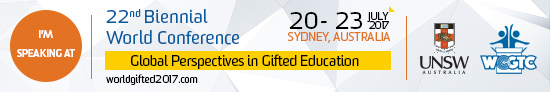 Svenja Matheis is speaking at the World Council for Gifted and Talented Children (WCGTC) in Sydney, Australia.
