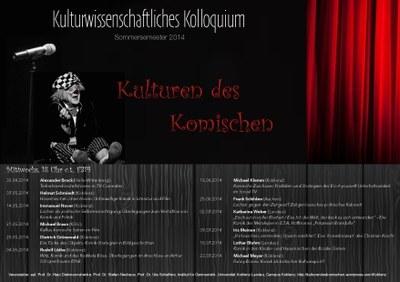 "Kolloquium: ""Kulturen des Komischen"" 2014"