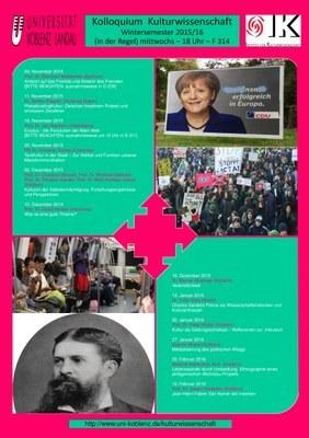 Kolloquium Kulturwissenschaft 2015/ 16