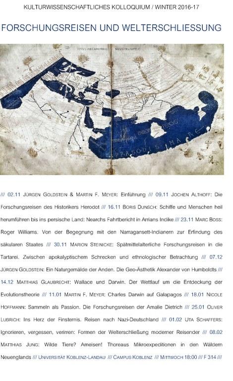 Kulturwissenschaftliches Kolloquium 2016/ 17