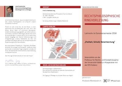 """Rechtsphilosophische Ringvorlesung: """"Freiheit, Schuld, Verantwortung"""""""