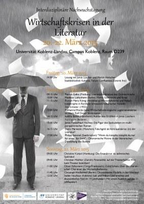 """Interdisziplinäre Nachwuchstagung: """"Wirtschaftskrisen in der Literatur"""""""