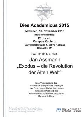"""Prof. Dr. Dr. h. c. mult. Jan Assmann """"Exodus - Die Revolution der Alten Welt"""""""