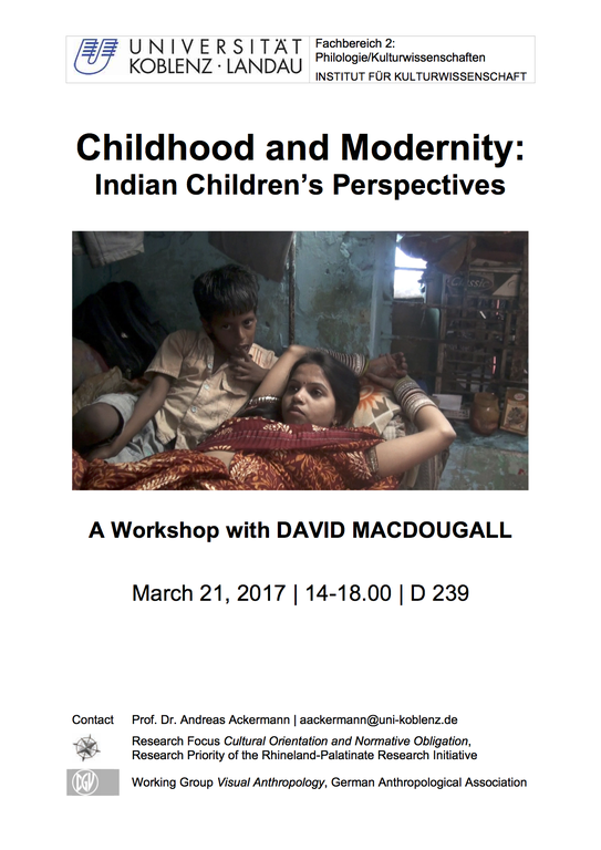 Childhood and Modernity: Indian Children's Perspectives – A Workshop with David MacDougall