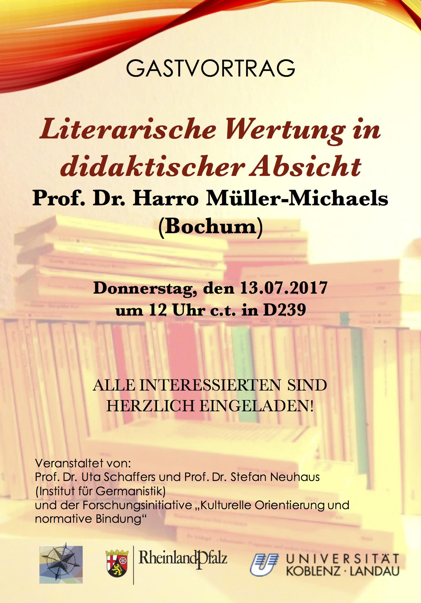 Gastvorträge Koblent Germanistik 1 literarische wertung