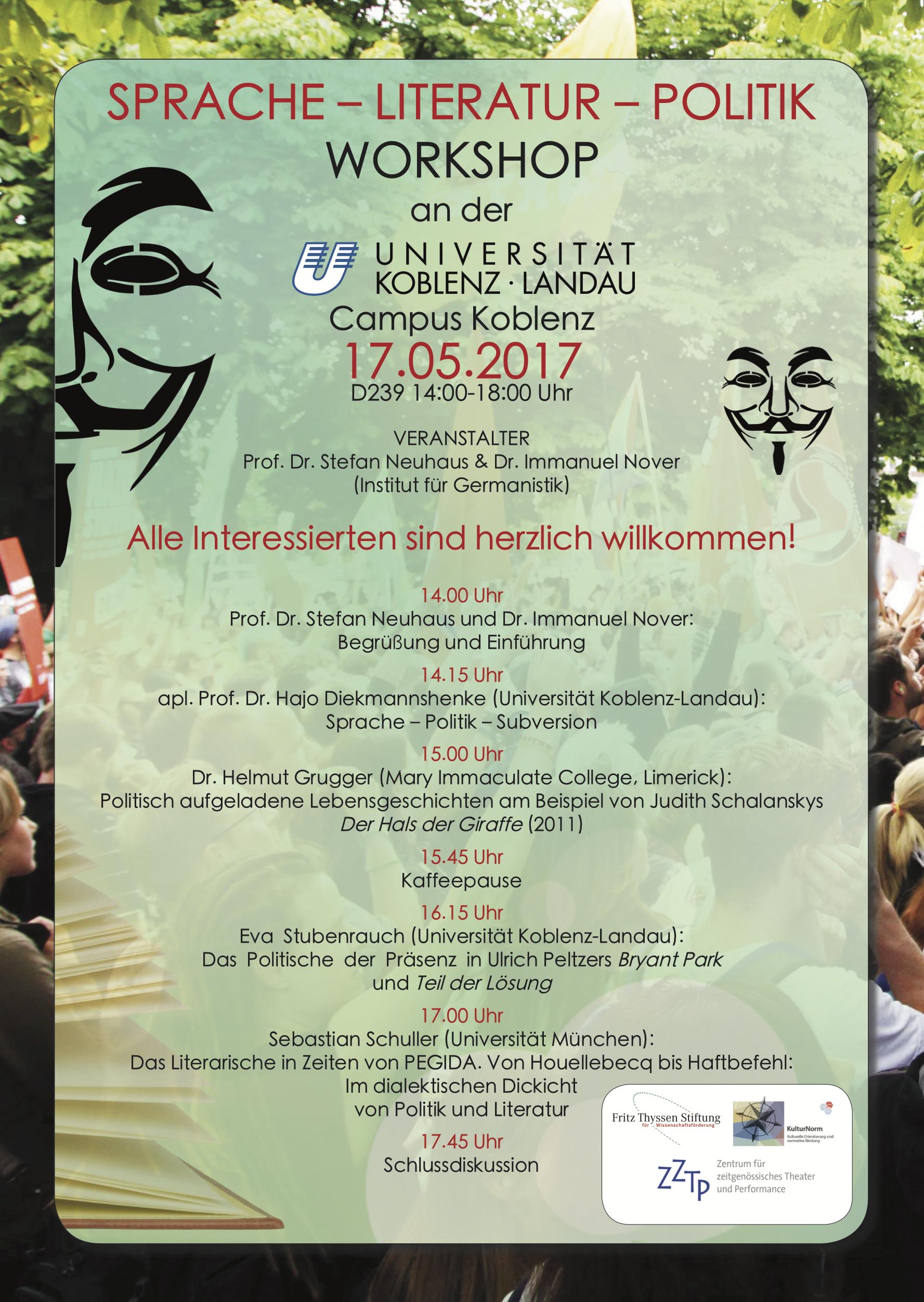 Workshop: Sprache - Literatur - Politik
