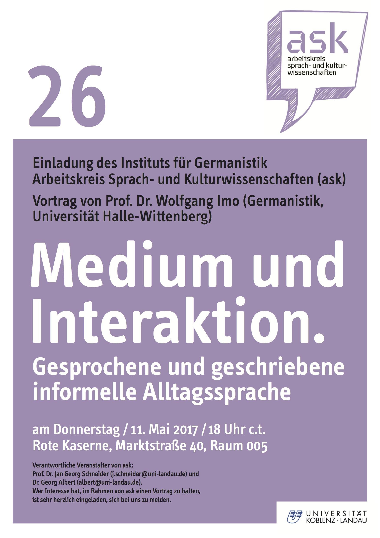 Ask Plakat Wolfgang Imo
