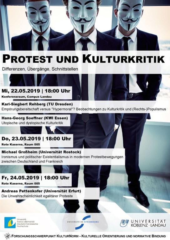 DFH Plakat: Protest und Kulturkritik
