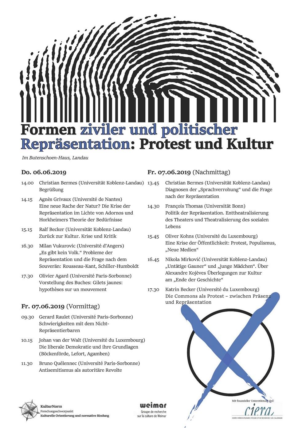 Plakat Formen ziviler und politischer Repräsentation