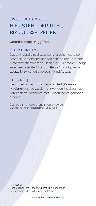 Corporate Design Und Vorlagen Universität Koblenz Landau