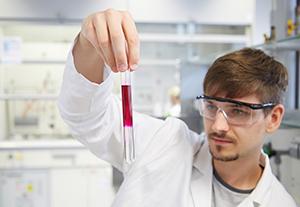 Arbeiten in einem Labor am Campus Landau