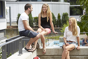 Studierende am Campus Landau