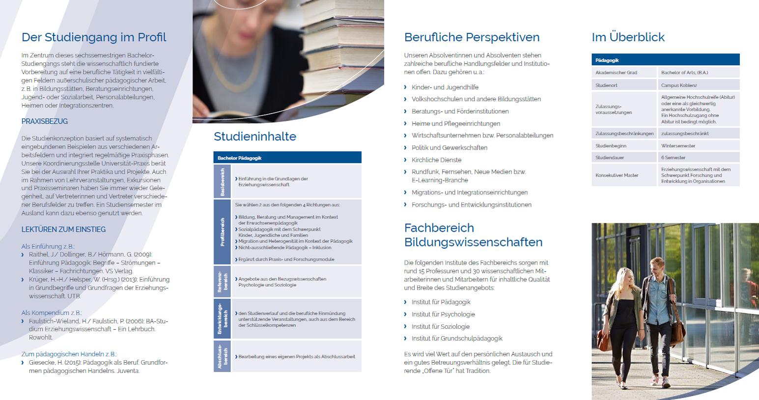 Studiengangsflyer B.A. Pädagogik 2