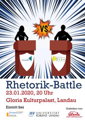 Plakat Rhetorik-Battle 01/2020