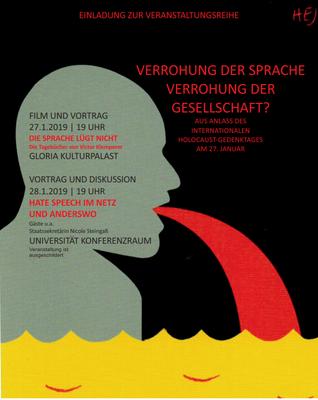 Plakat Verohung der Sprache und Gesellschaft Hauptseite