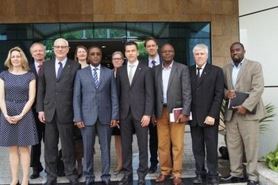 Delegation der Universität Koblenz-Landau bei Umweltminister Biruta