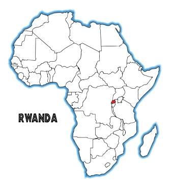 Lage Ruandas in Afrika