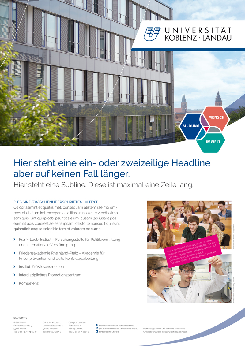 Corporate Design and Templates — University of Koblenz · Landau