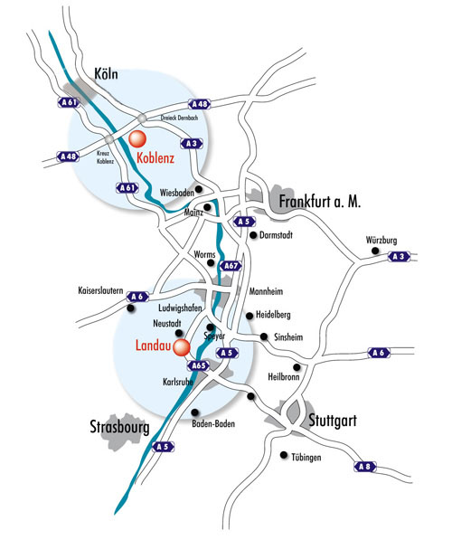 Map Koblenz Landau University Of Koblenz Landau