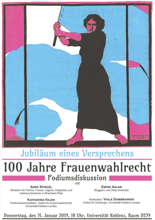 podiumsdiskussion frauenwahlrecht plakat