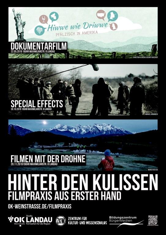 Plakat Hinter den Kulissen