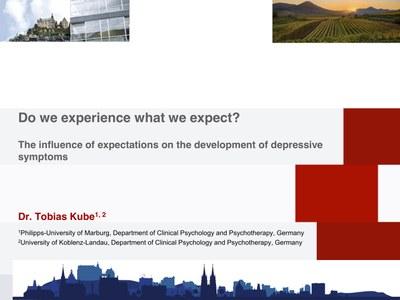 Presentation by Tobias Kube on the EABCT in Sofia, Bulgaria - Deckblatt