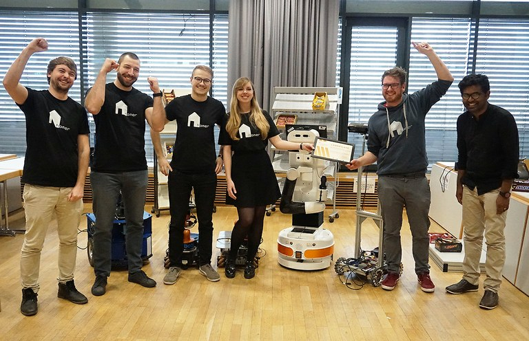 First European Robotics Leaque tournament at University of Koblenz
