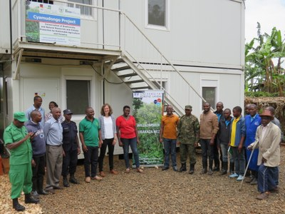Delegation at the field station of Cyamudongo project
